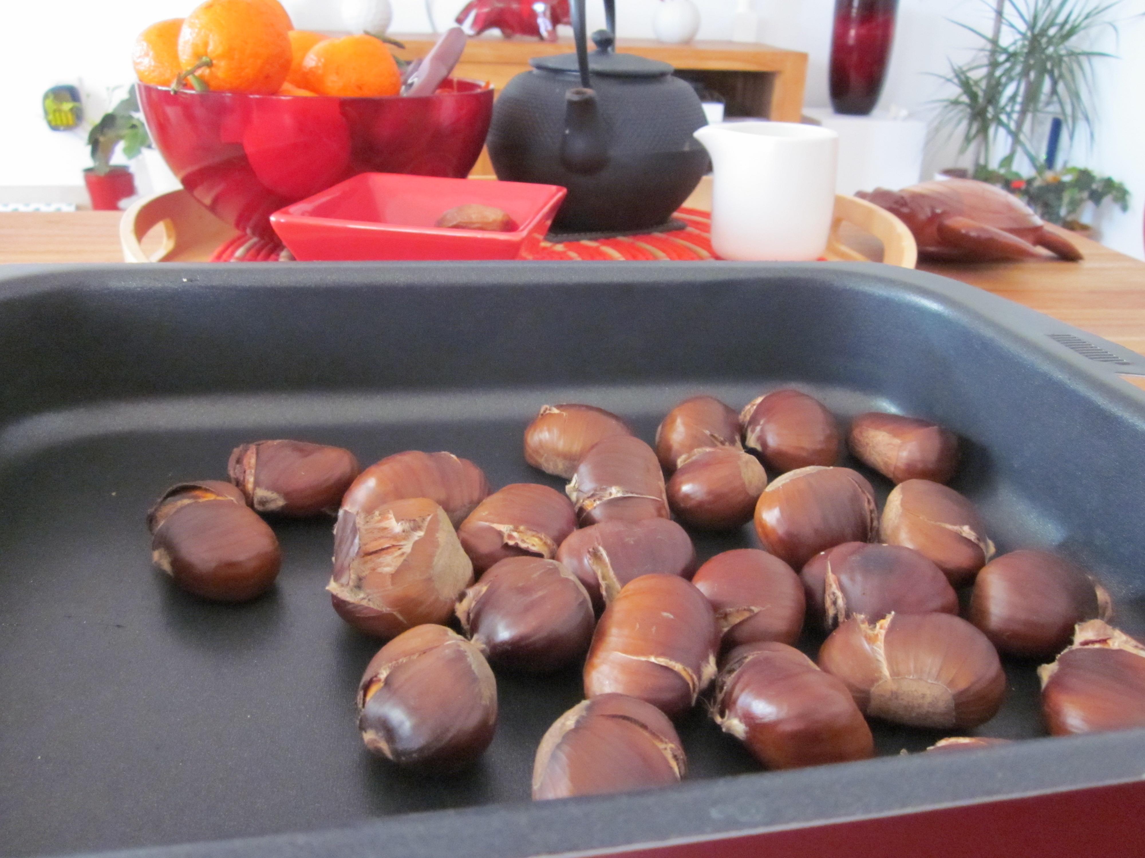 Ch taignes grill es la cuisine de sucrette - Comment faire des chataignes ...