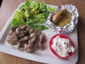 Assiette grecque légère  dans plats img_4752-300x225